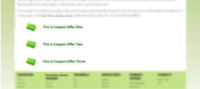 Your Coupon Offers appear on your website.