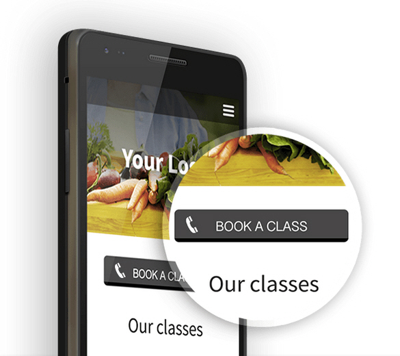 Mobile Website with Click to Call and Click to Navigate Features