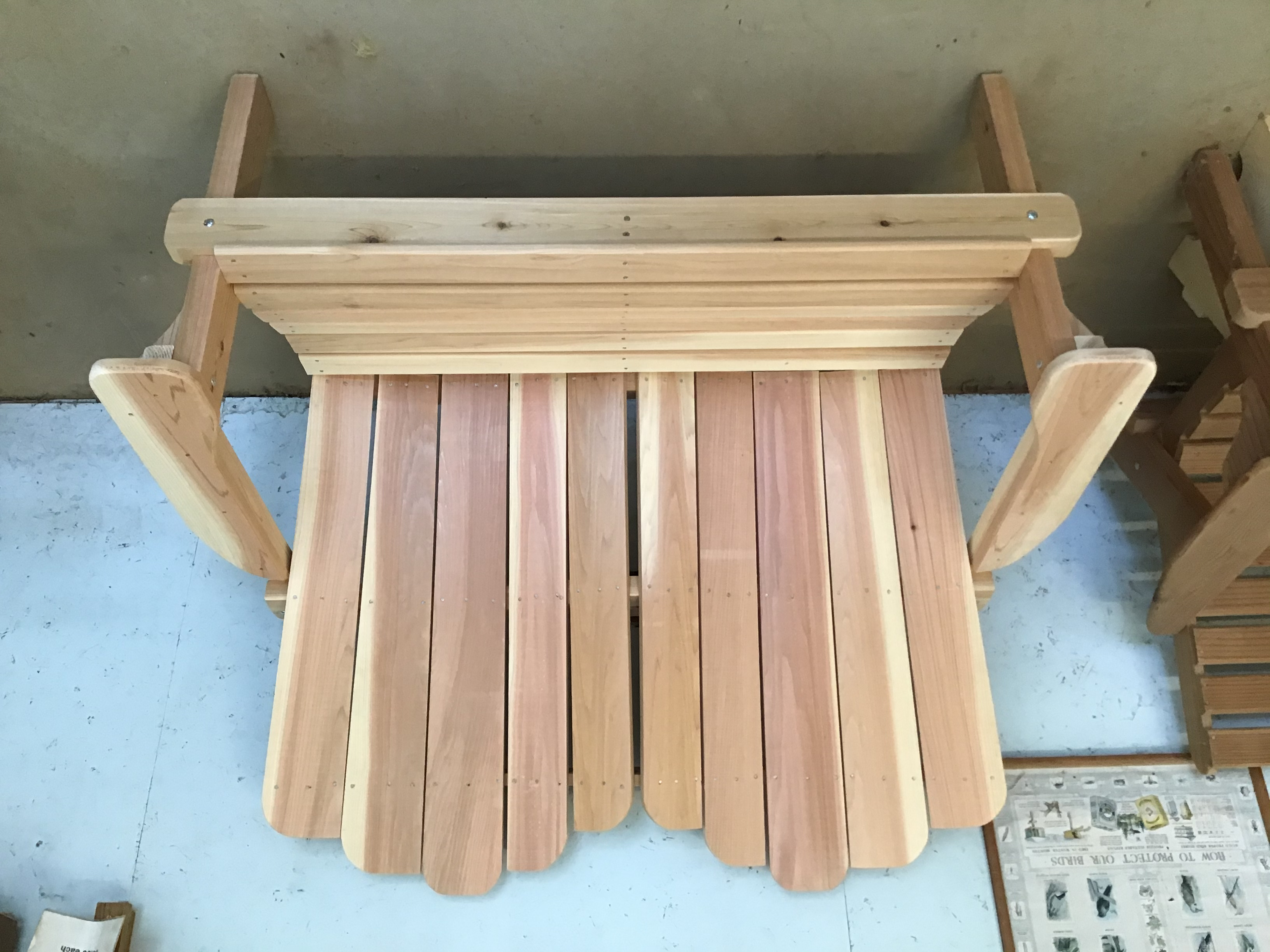 Solid Back Double Chair