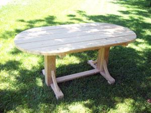 Straight Leg Oval Table