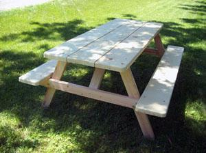 Picnic Tables Wood Picnic Tables Oval Picnic Tables Round Picnic - Spruce picnic table