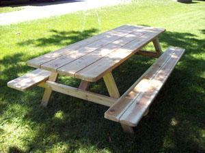 8 Ft W Attached Benches